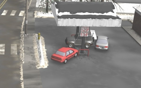 Forensic Animation Gas Station Accident