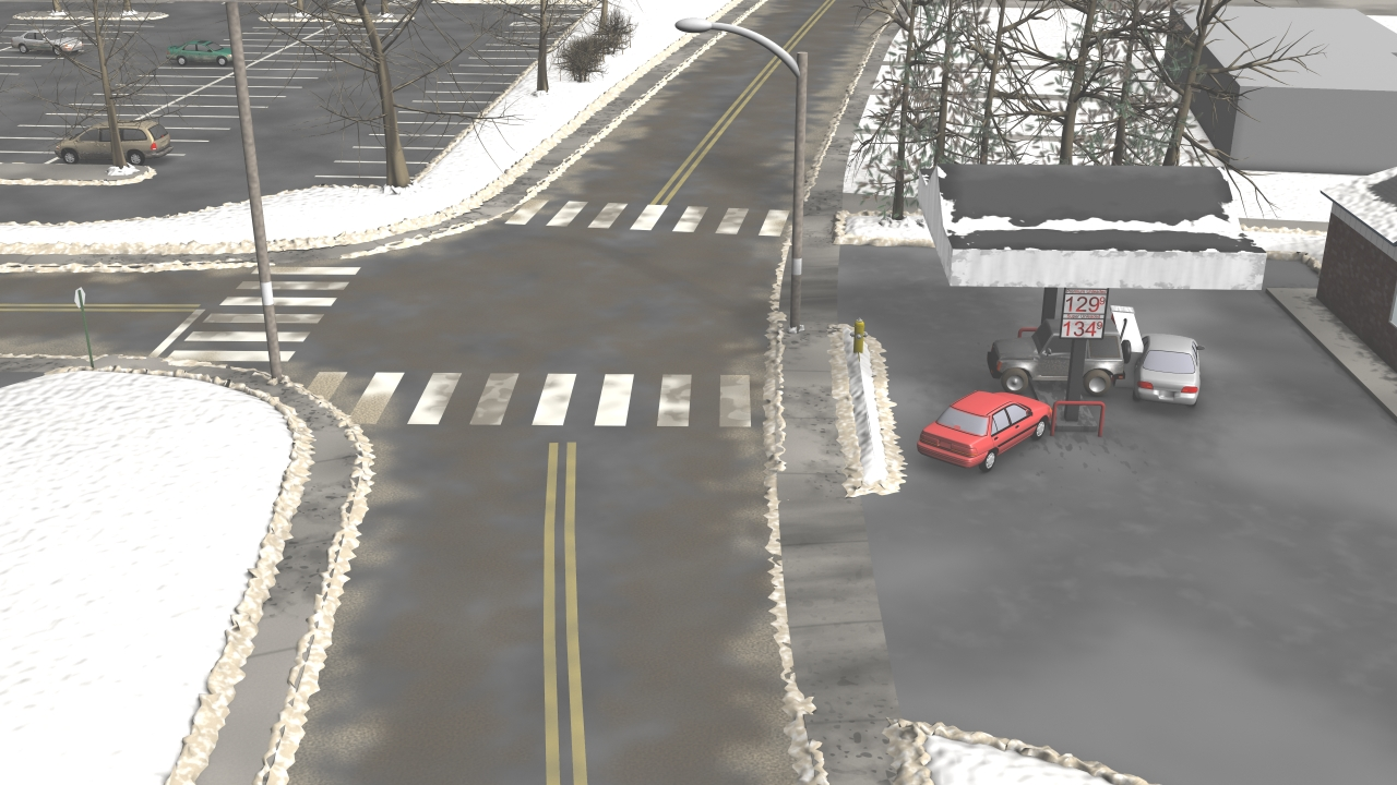 Gas Station Accident Simulation